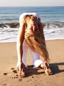 "Angela Kukhahn in camel pose ""ustrasana"""