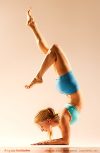Angela Kukhahn in forearm balance photo by Jasper Johal