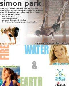 Brock, and Krista chaill, simon park and ashley turner teach yoga ak u