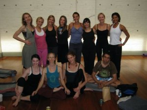 Yoga Teacher Training Group with Master Teacher Annie Carpenter