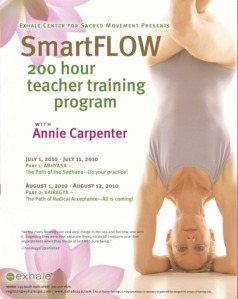Annie Carpenter Smart Flow Lab at Exhale center for sacred movement in venice california