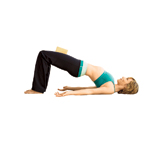 Yoga woman in Bridge Pose
