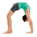 Yoga Guy in Full Wheel yoga Pose Urdhva Dhanurasana
