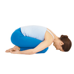 Yoga woman in Child's Pose Balasana