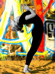 Angela Kukhahn backbend. Photo by Leelu Morris